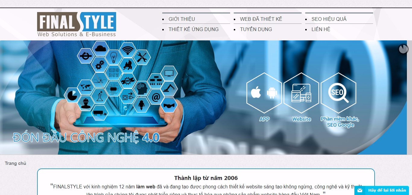 Thiết kế website với FinalStyle