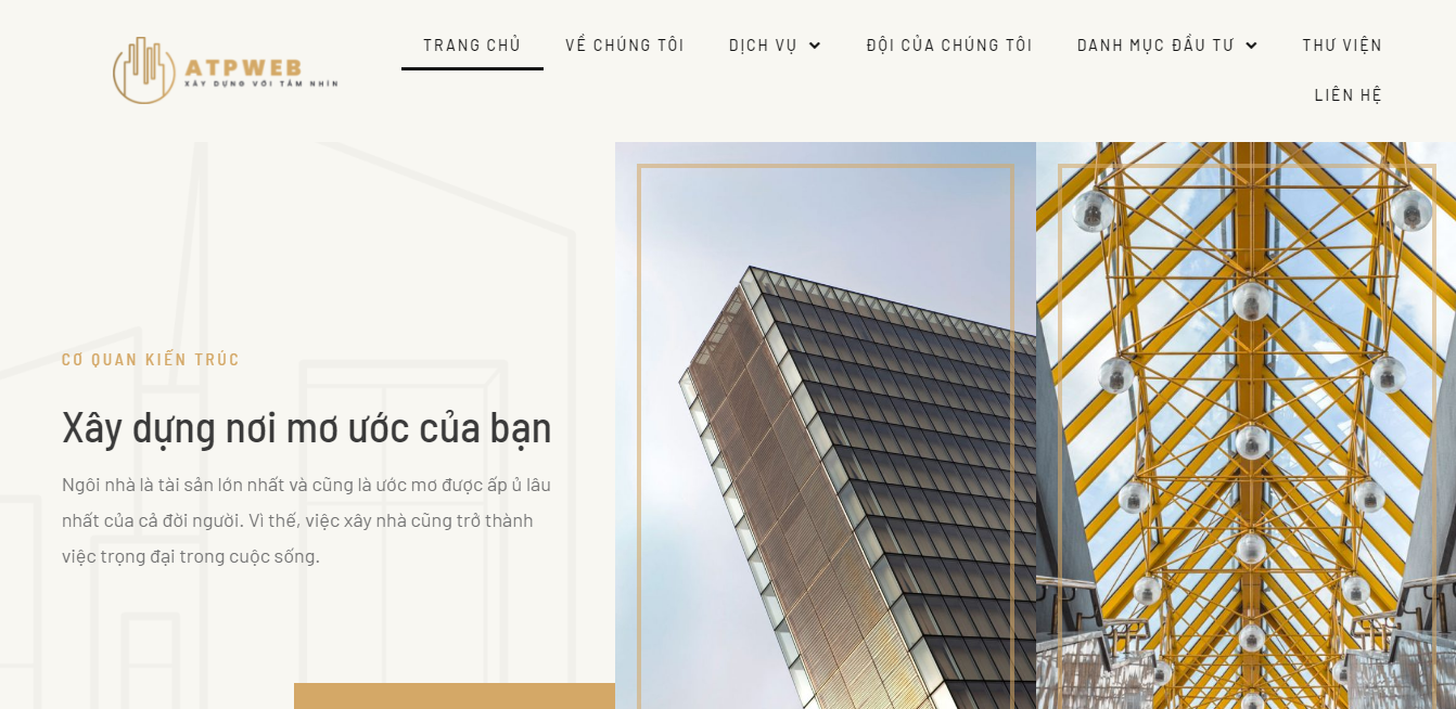 Giao diện Website Xây dựng 2
