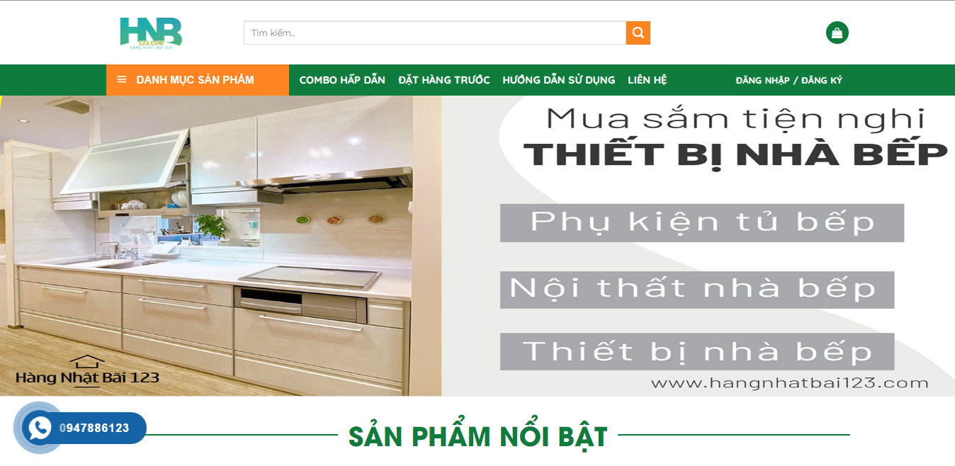 Giao diện Website Nội thất 3