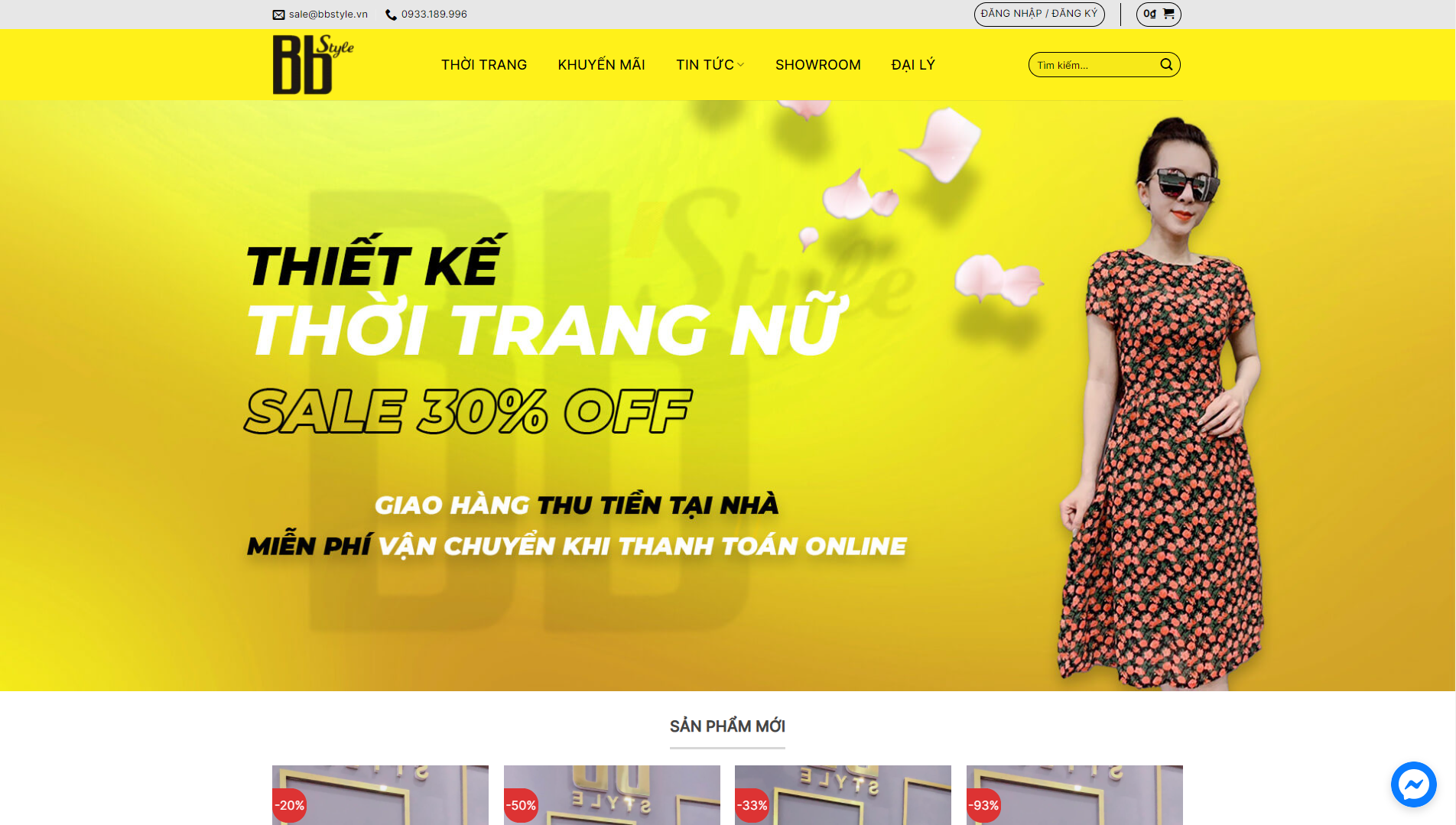 Mẫu giao diện Website Thời trang BBstyle