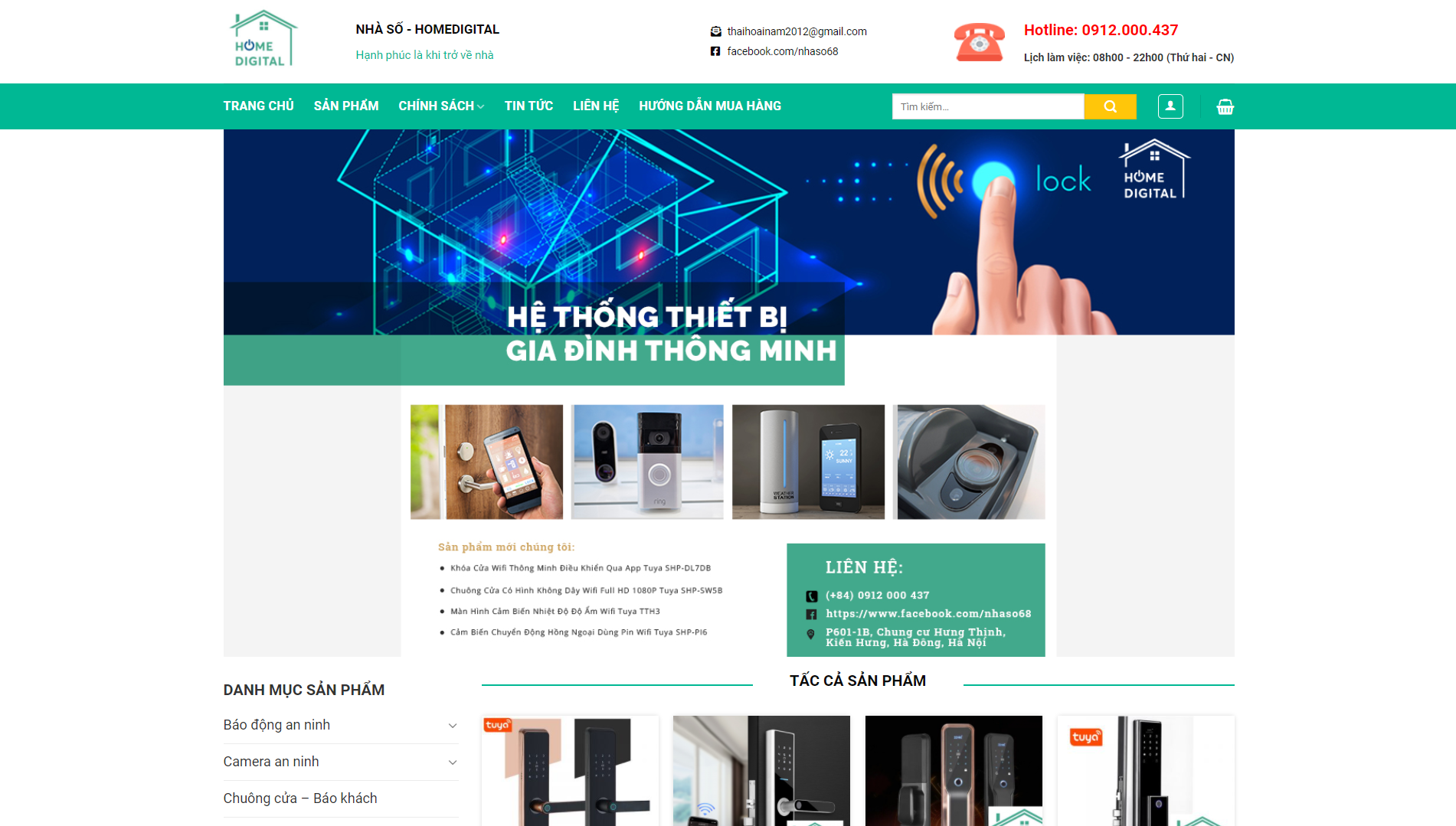 Giao diện Website thiết bị gia dụng 2