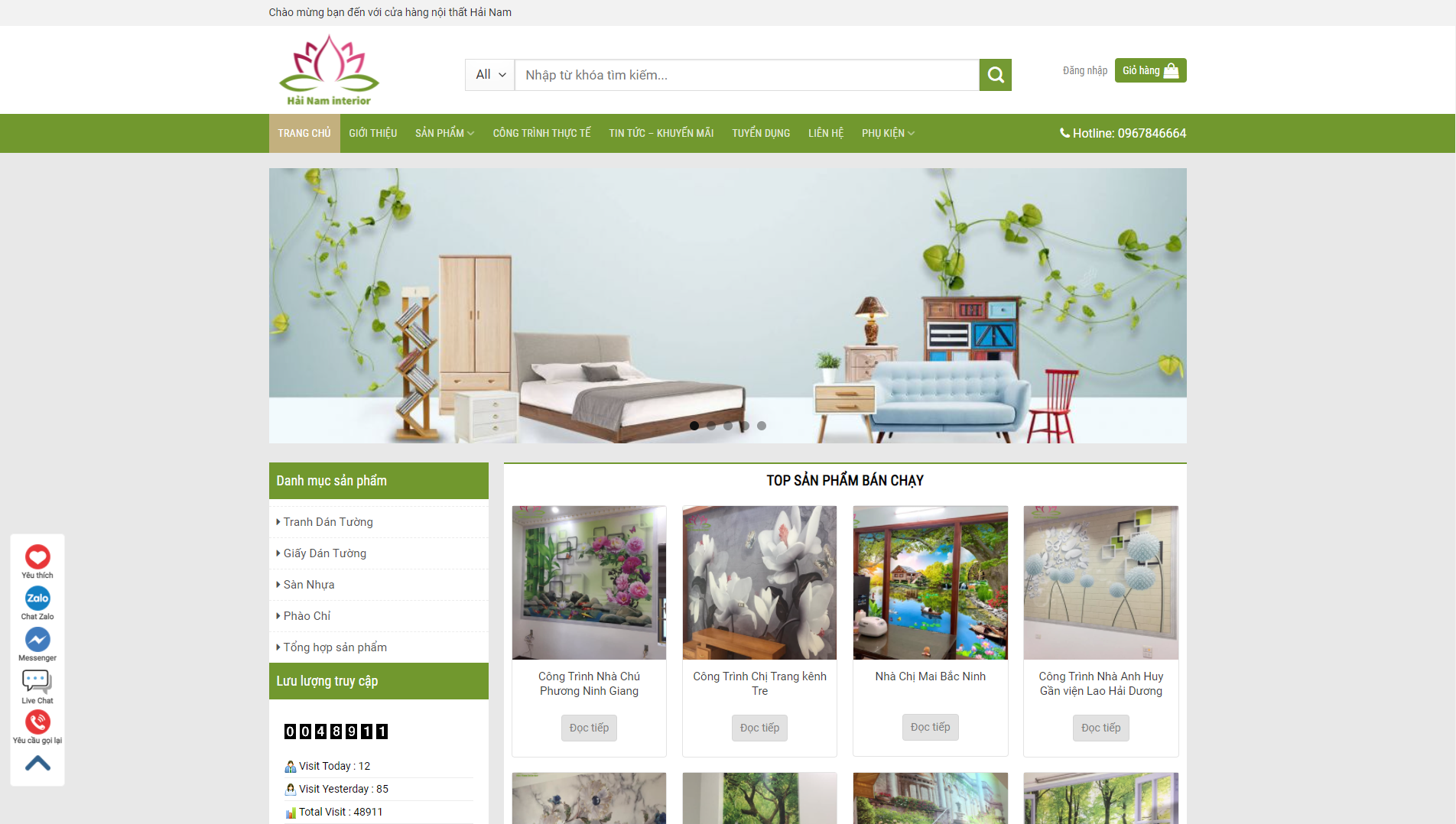 Giao diện Website Nội thất 2
