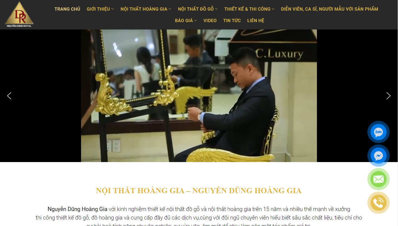 Giao diện Website Nội thất 1